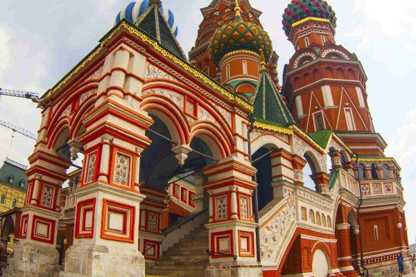 Viaggio in Russia, Piazza Rossa a Mosca, facciata di San Basilio