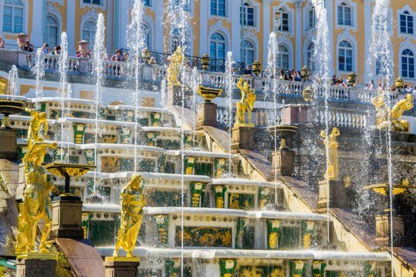 Viaggio in Russia, reggia di Peterhof, Grande Cascata