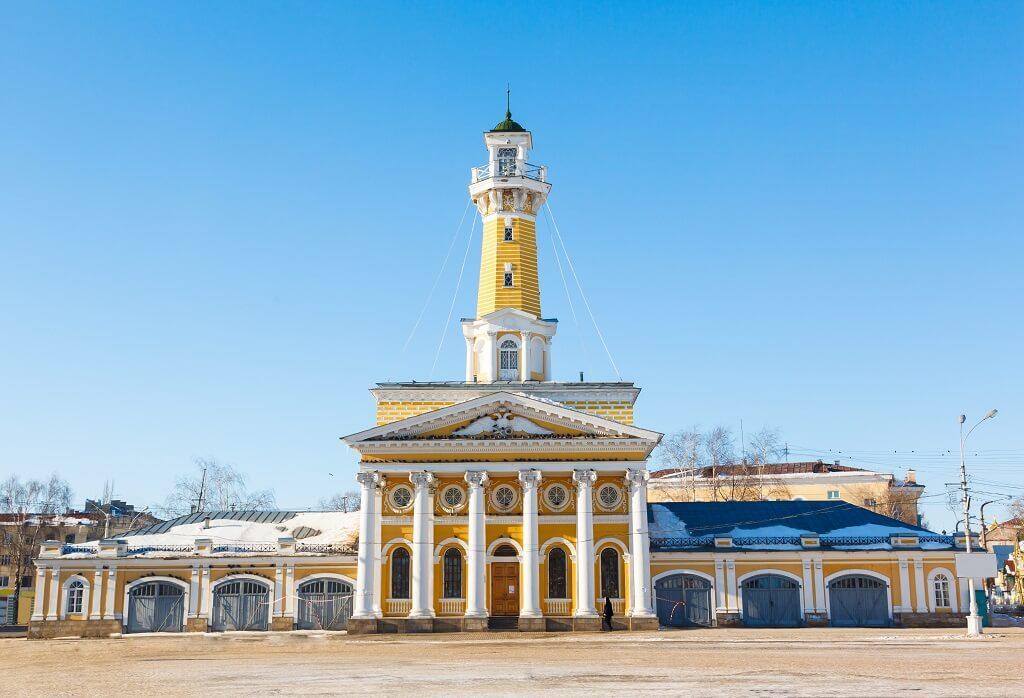 Kostroma, l'antica torre per l'avvistamento degli incendi