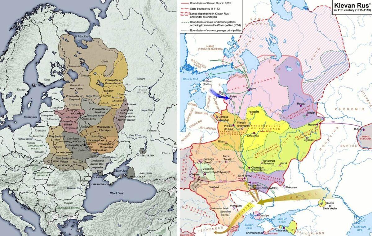 Mappa storica dell'Anello d'Oro