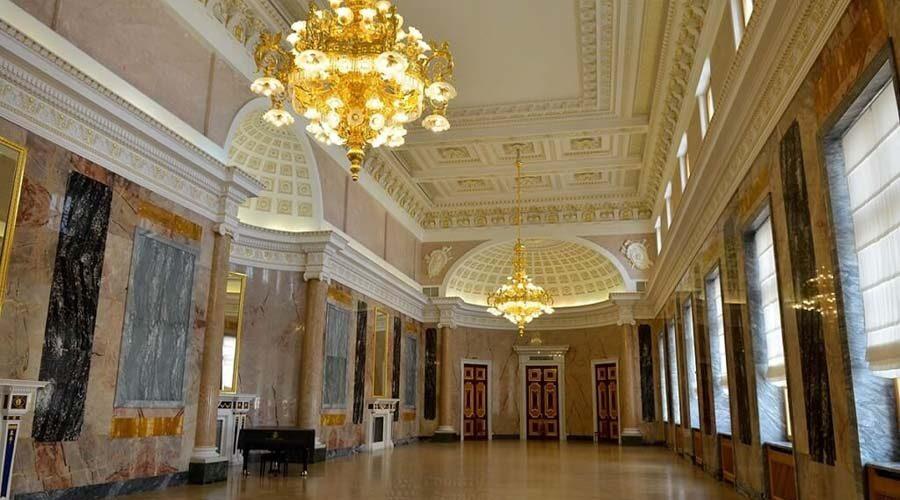 Museo russo di San Pietroburgo, veduta dell'interno del castello di San Michele