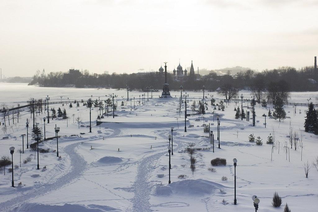 Il fascino di Yaroslavl ricoperta di neve