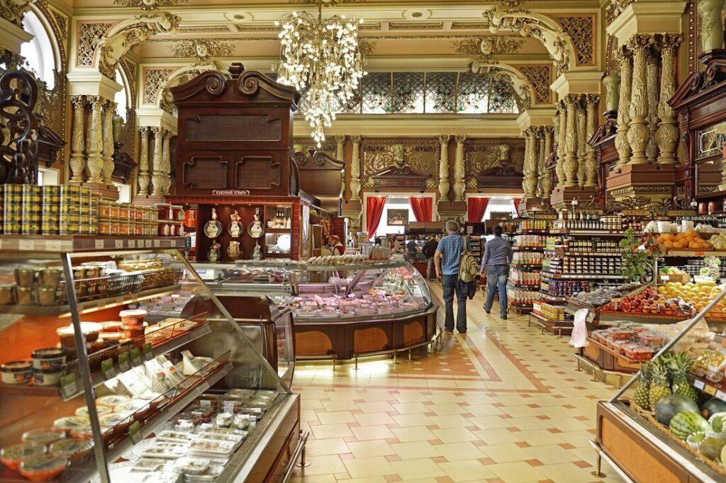 La celebre gastronomia Eliseevsky, a Mosca